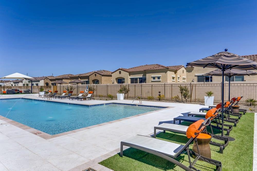 Pool for tanning at Avilla Camelback Ranch in Phoenix AZ