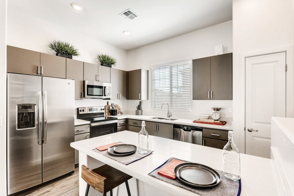 Kitchen with up to date amenities for cooking at Avilla Camelback Ranch in Phoenix AZ