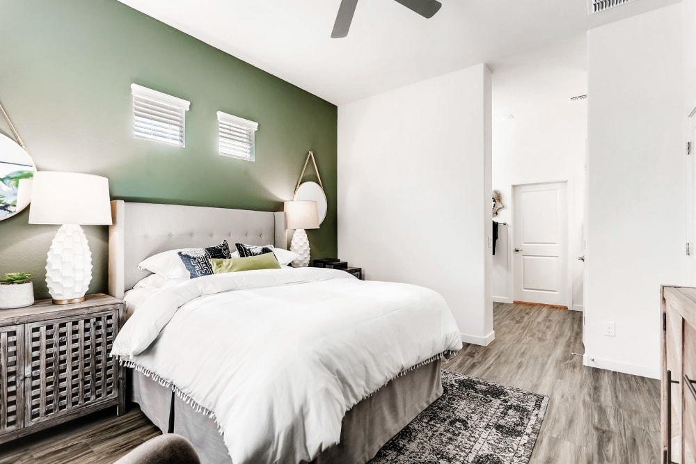 Bedroom with modern design at Avilla Camelback Ranch in Phoenix AZ