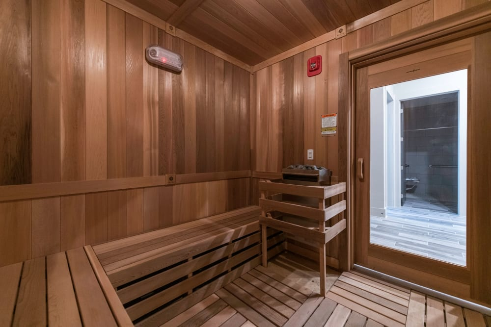 Sauna at Silver Collection at Carl D. Silver Parkway in Fredericksburg, Virginia