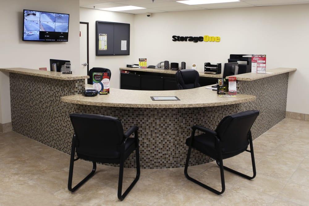 Front Office at StorageOne Blue Diamond & Decatur in Las Vegas, Nevada