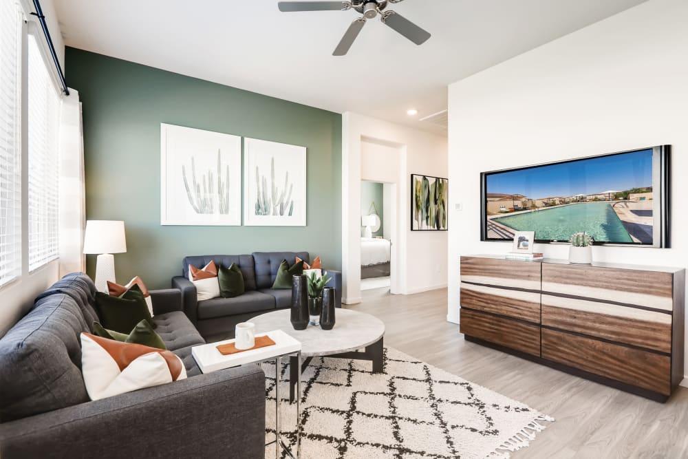 Living room at Avilla Enclave in Mesa, Arizona