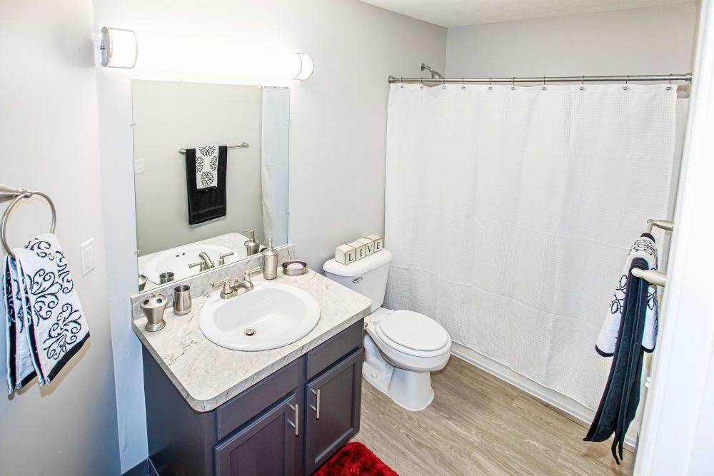A large bathroom at Silver Lake Hills in Fenton, Michigan