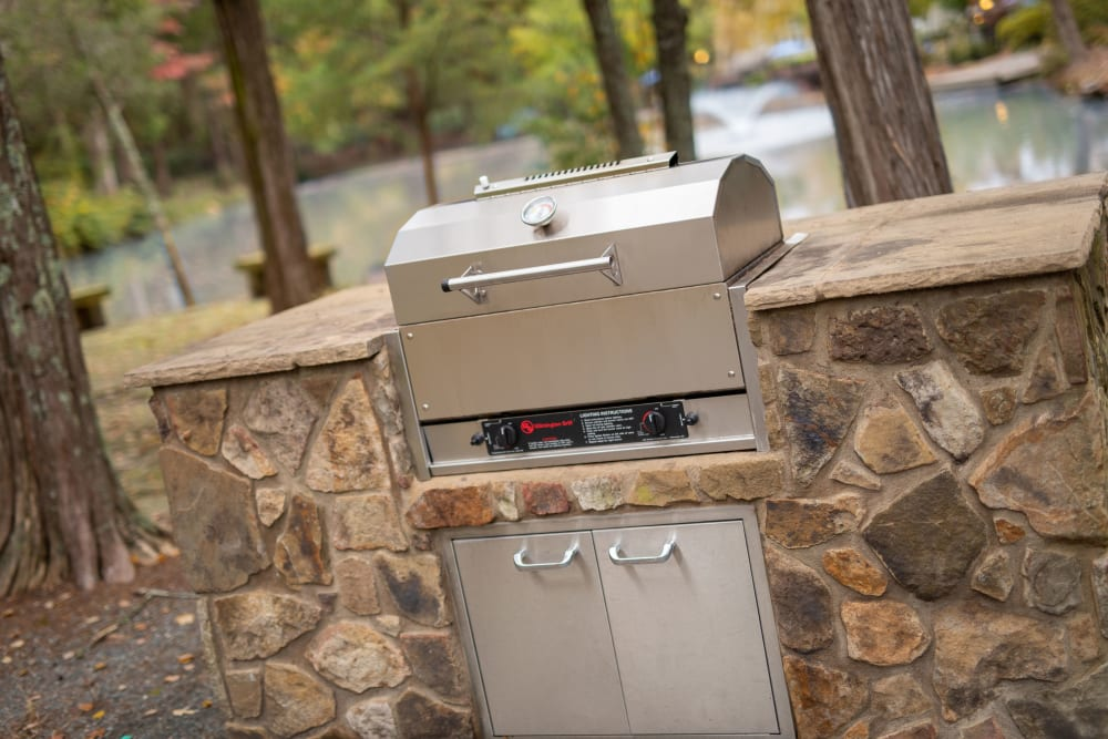 A gas barbecue grill at The Corners at Crystal Lake in Winston Salem, North Carolina