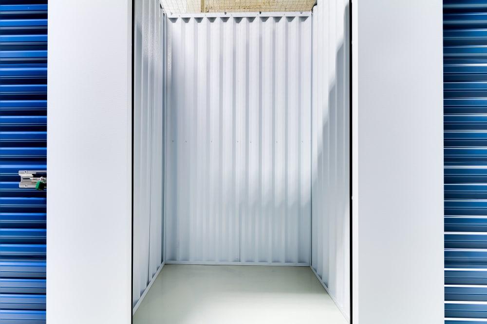 Clean interior storage units at CityBox Storage in Calgary, Alberta