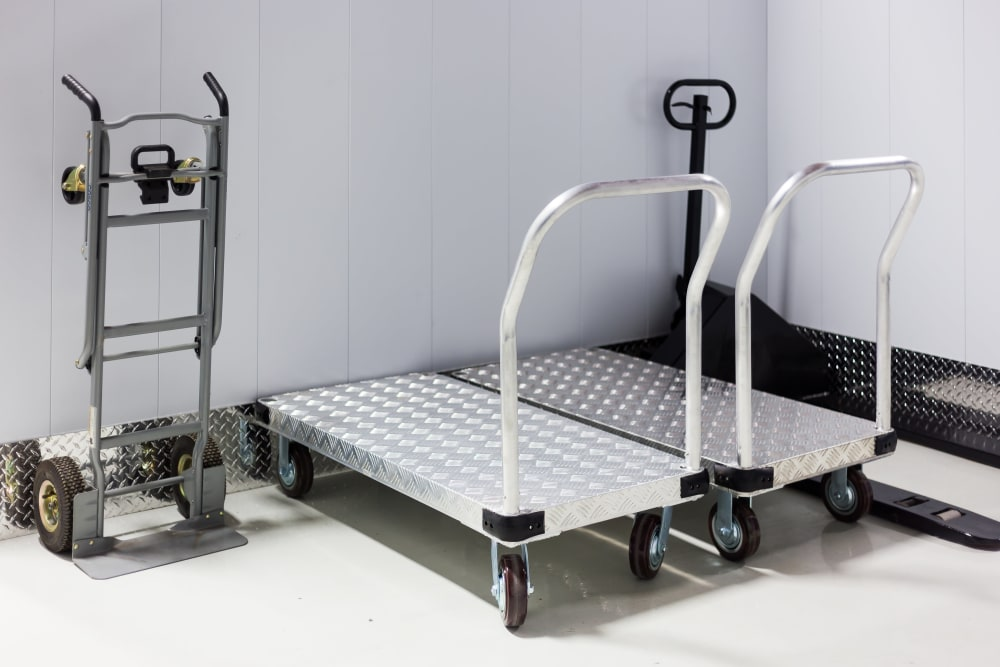 Free dolly & cart use included with interior storage units at CityBox Storage in Calgary, Alberta