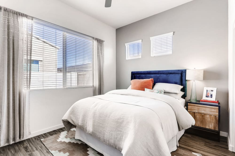 Bedroom with large window view at Avilla Camelback Ranch in Phoenix AZ