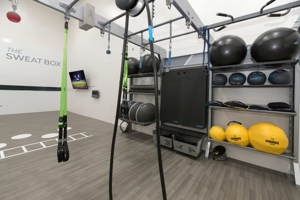 Onsite fitness center at River Oaks Apartment Homes in Vacaville, California