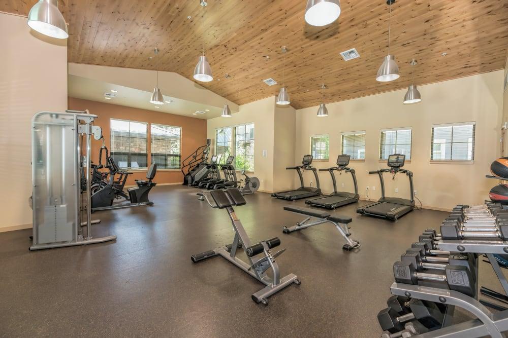 Fitness center Eddyline at Bridgeport in Portland, Oregon