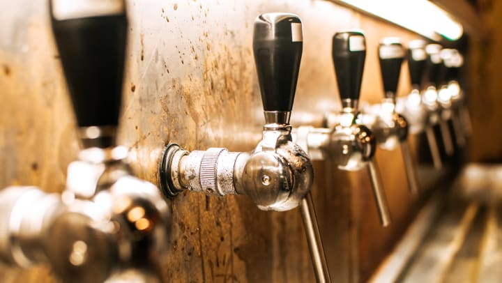 Craft brews on tap at a locals favorite pub near Olympus Waterford in Keller, Texas