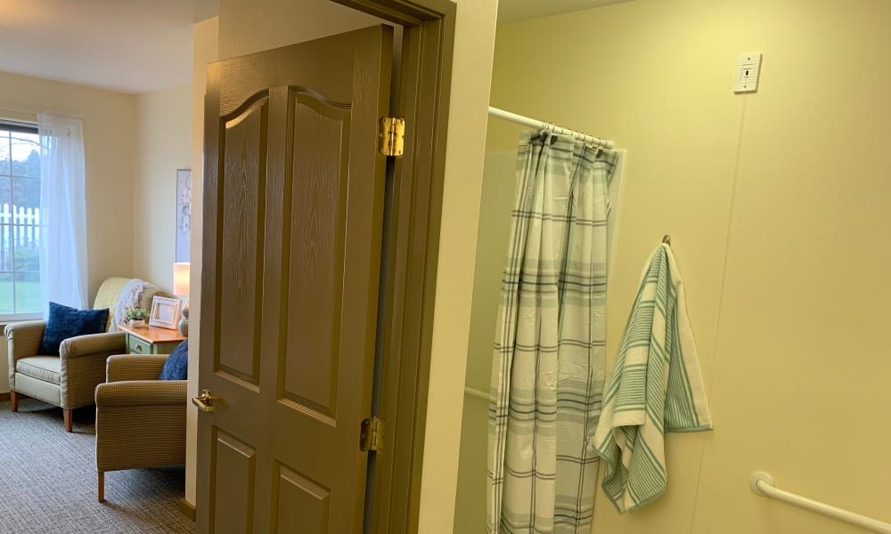 in unit walk-in Shower at Generations at Lewiston in Lewiston, Idaho