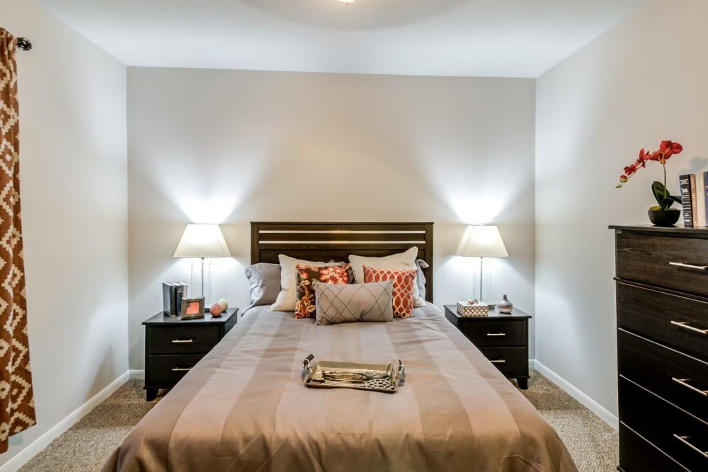 Bedroom at Meridian Apartments in San Antonio, TX
