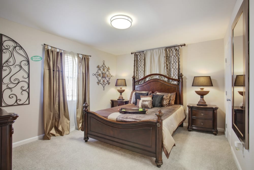 Bedroom at Emerald Pointe Apartment Homes
