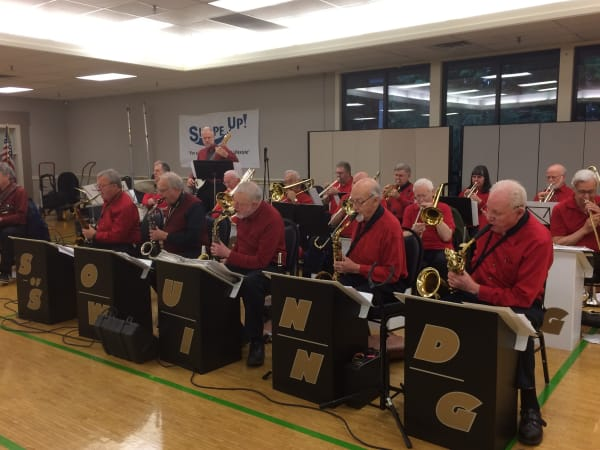 A swing band at Patriots Glen in Bellevue, Washington.