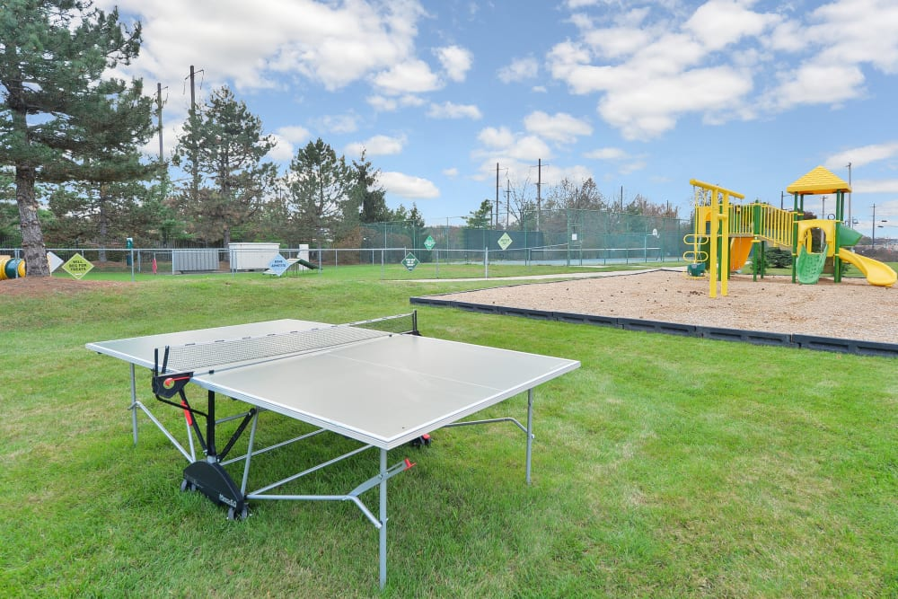Ping Pong Table & Playground at Abrams Run Apartment Homes in King of Prussia, Pennsylvania