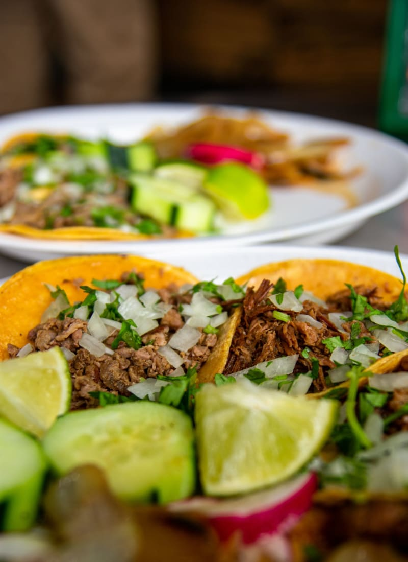 Mouth watering tacos near Marquis at Silver Oaks in Grapevine, Texas