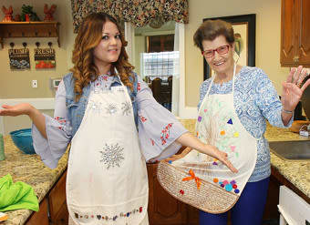 Cake decorating at Legacy Ranch in Midland