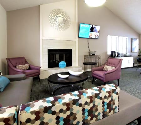 CLubhouse with a coffee bar at Plum Tree Apartment Homes in Martinez, California