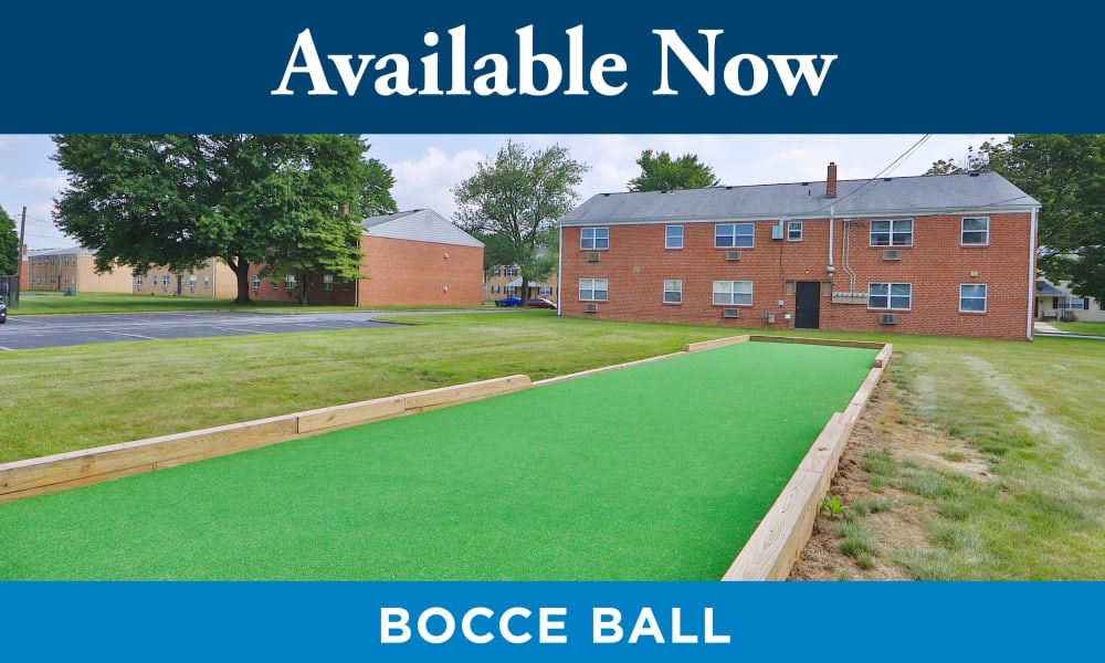 Bocce Ball Court at Seneca Bay Apartment Homes in Middle River, MD
