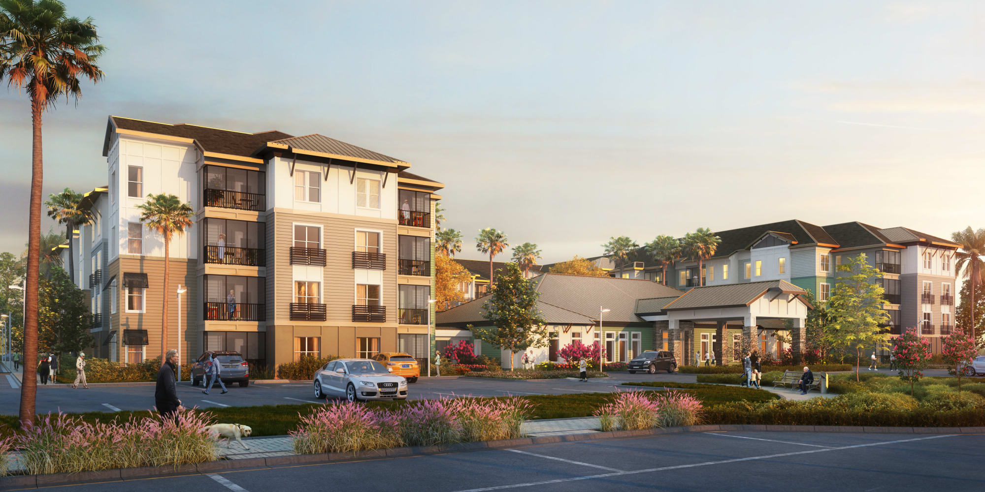 Exterior rendering of The Pointe at Siena Ridge in Davenport, Florida