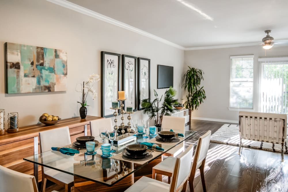 Spacious Living Room at Meridian Apartments in San Antonio, Texas