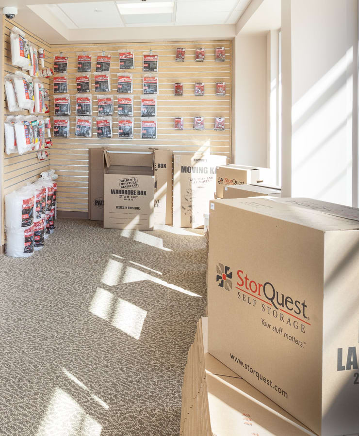 Packing supplies available at StorQuest Self Storage in Westbury, New York