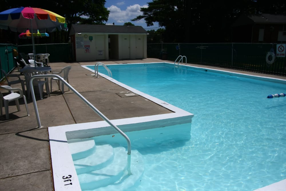 Our private pool at Pointe Breeze Apartments