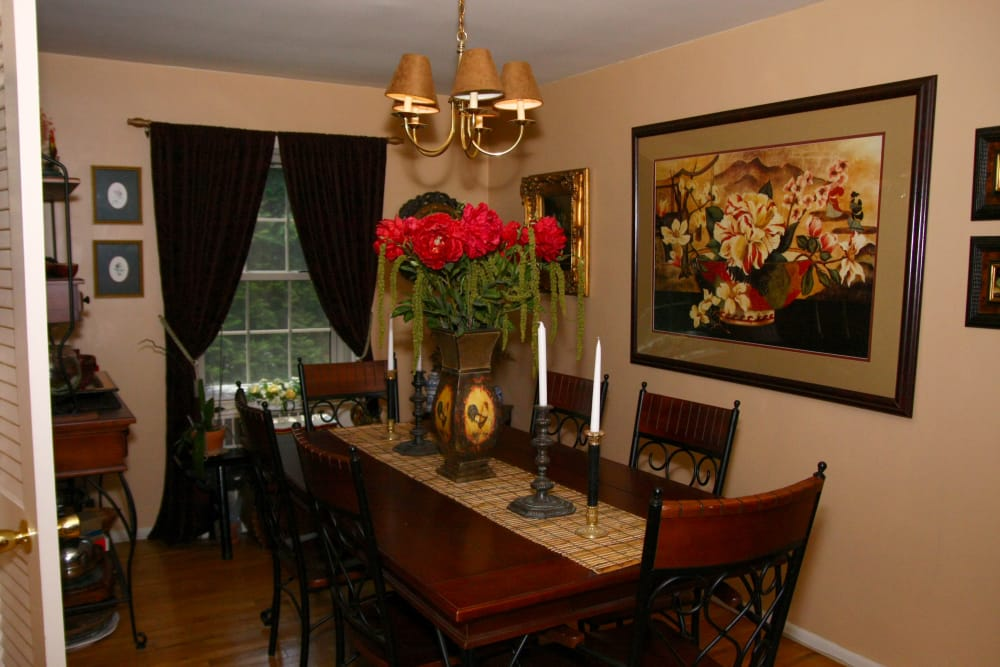 Beautiful dining area at apartments in Westfield, New Jersey