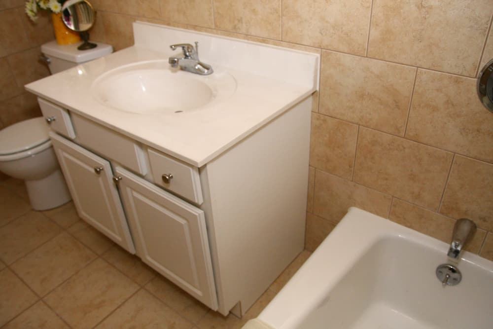 Our apartments in Westfield, New Jersey showcase a spacious bathroom