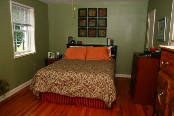 Bedroom model at Linden Arms
