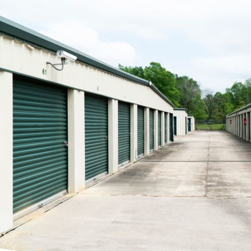 Outdoor storage units at Red Dot Storage in Hammond, Louisiana
