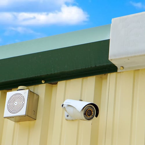 Security camera at Red Dot Storage in New Lenox, Illinois