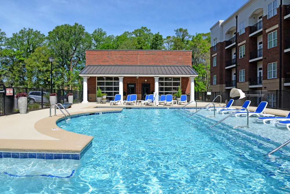 Sparkling pool at Morehead West in Charlotte, North Carolina