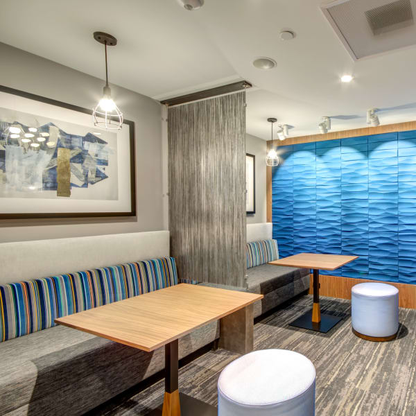 Lobby work pods at Harlow in Washington, District of Columbia