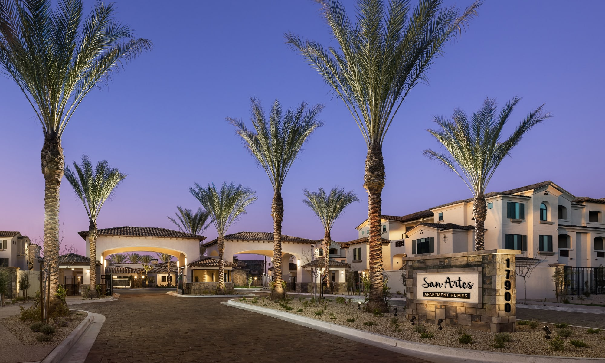 Controlled-Access Entrance at San Artes in Scottsdale, Arizona