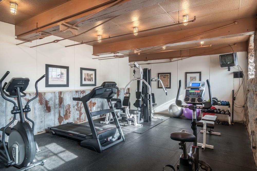 Brand new fitness center at Porterdale Mill Lofts in Porterdale, Georgia