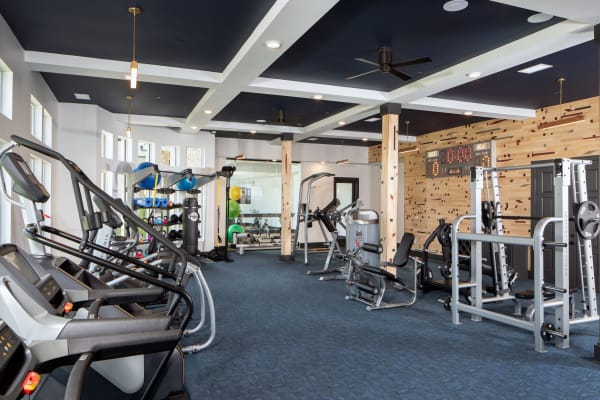 Fitness center at Broadstone Sugar Hill in Sugar Hill, Georgia