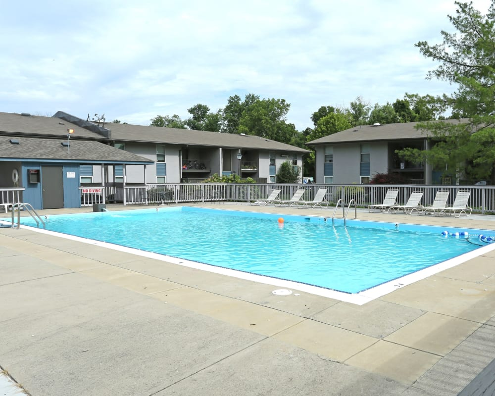 Sparkling pool at Willowbrook Apartments in Louisville, Kentucky