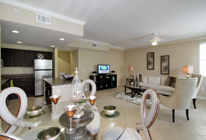 Luxuriously decorated model home at IMT Miramar in Miramar, FL