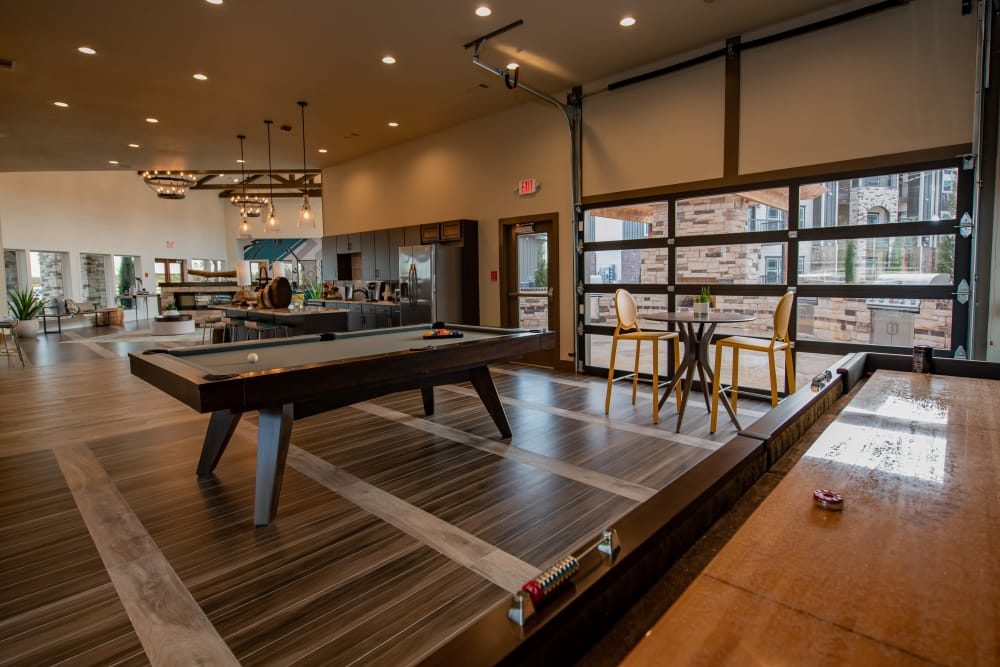 Billiard table at Stonehorse Crossing Apartments in Oklahoma City, Oklahoma