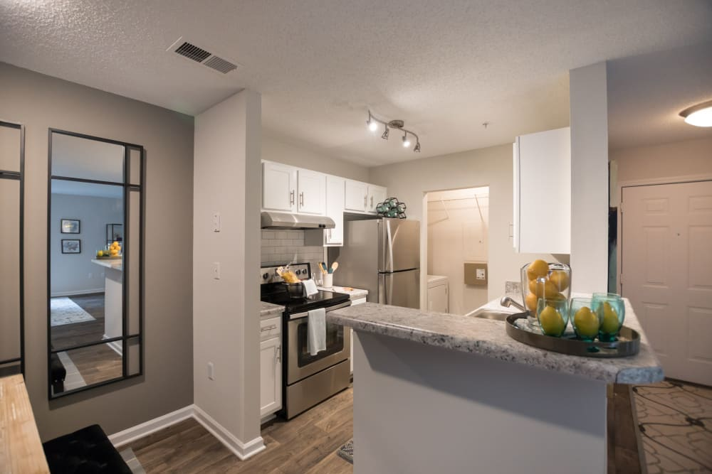 Large modern kitchen at Palmetto Place in Fort Mill, South Carolina