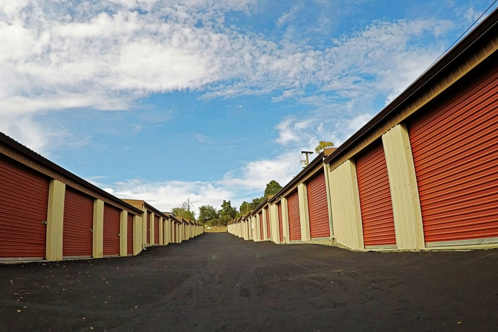 Different Size Units at the Self Storage in Prescott
