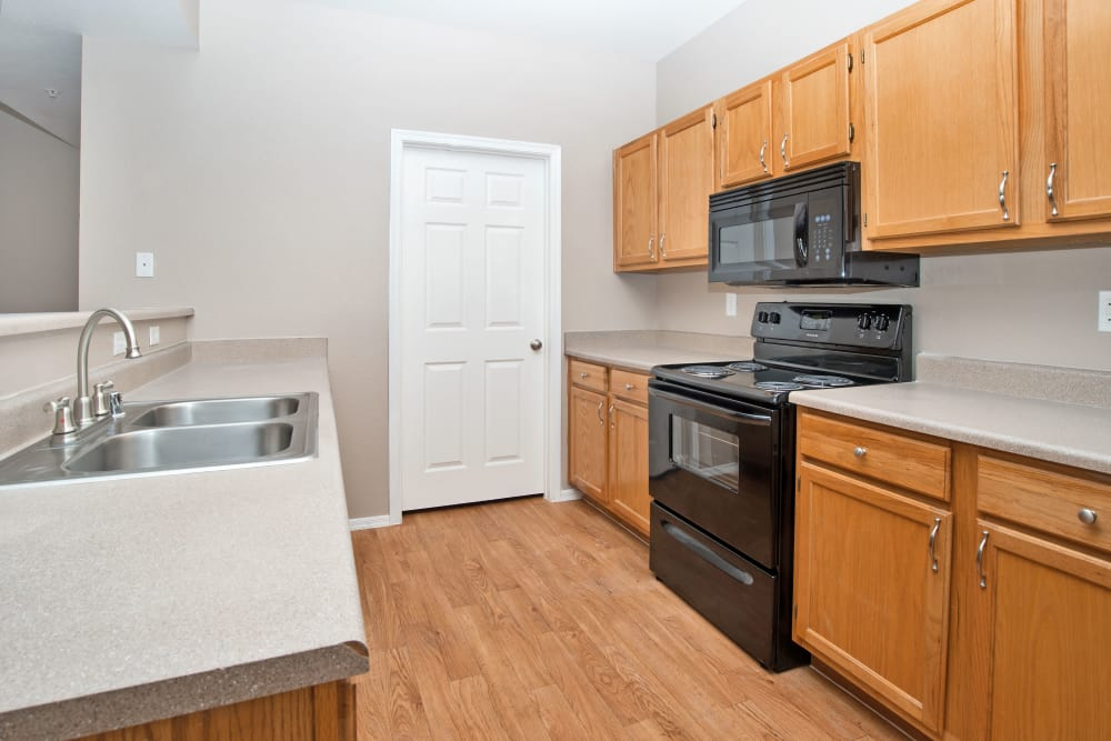 Kitchen at Ventana Canyon Apartments in Albuquerque, New Mexico
