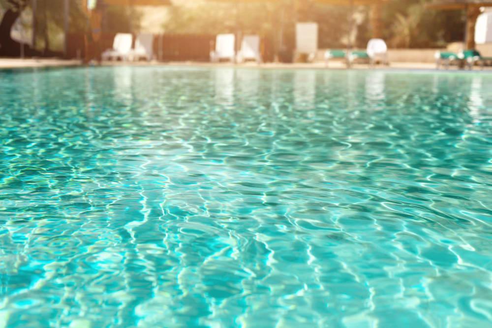 Sparkling swimming pool at The Royal Athena in Bala Cynwyd, Pennsylvania