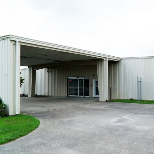 Entrance to the office at Red Dot Storage in Youngsville, Louisiana