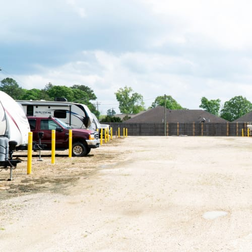 RV, boat and auto parking at Red Dot Storage in Denham Springs, Louisiana