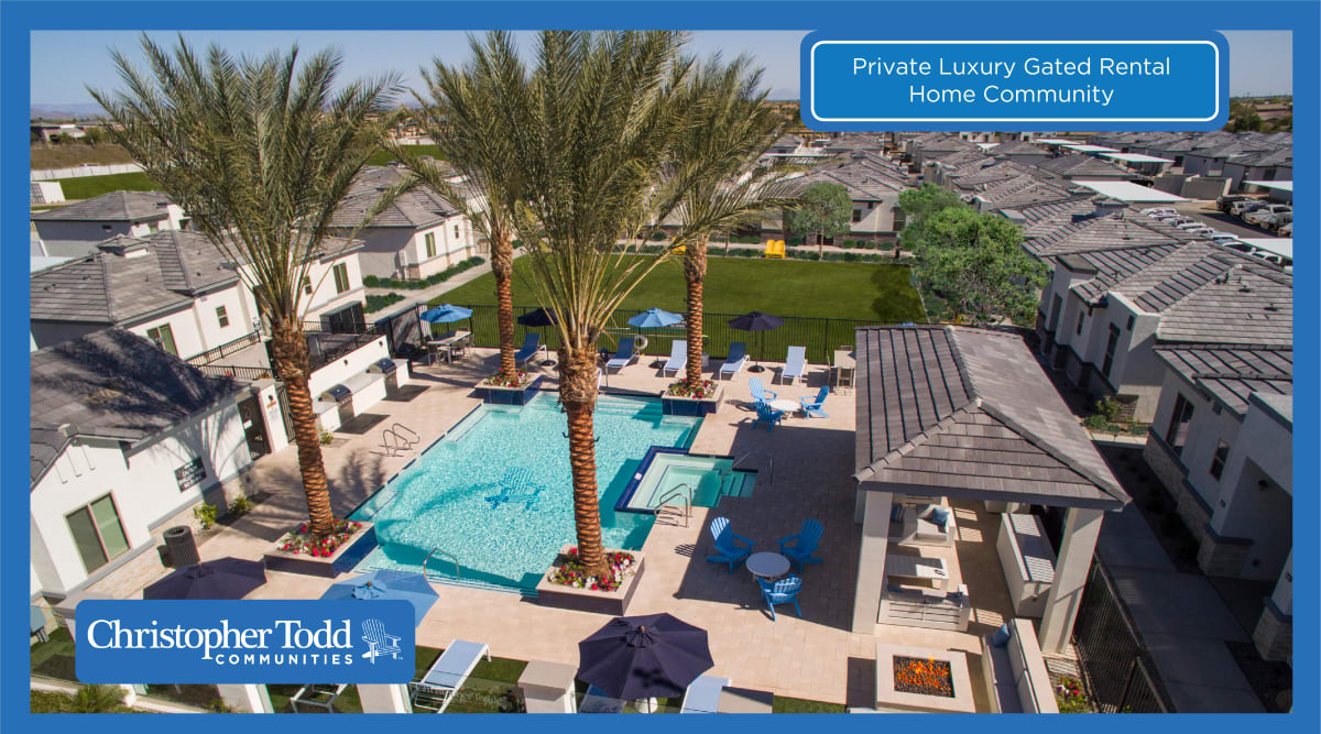 Swimming pool area at Christopher Todd Communities On Mountain View in Surprise, Arizona