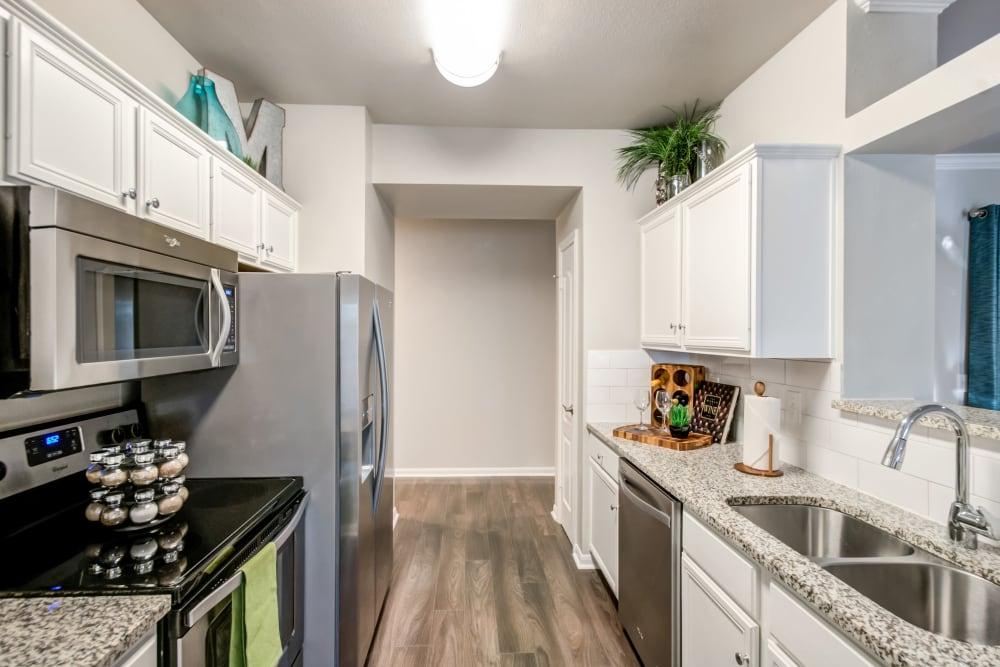 Kitchen at Meridian Apartments in San Antonio, Texas