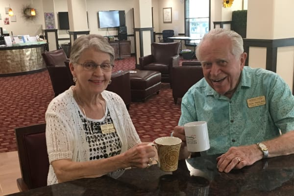 Don and Betty Yingling at The Savoy Gracious Retirement Living in Winter Springs, Florida