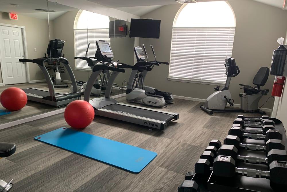 Fitness center at Timber Ridge in Fredericksburg, Virginia
